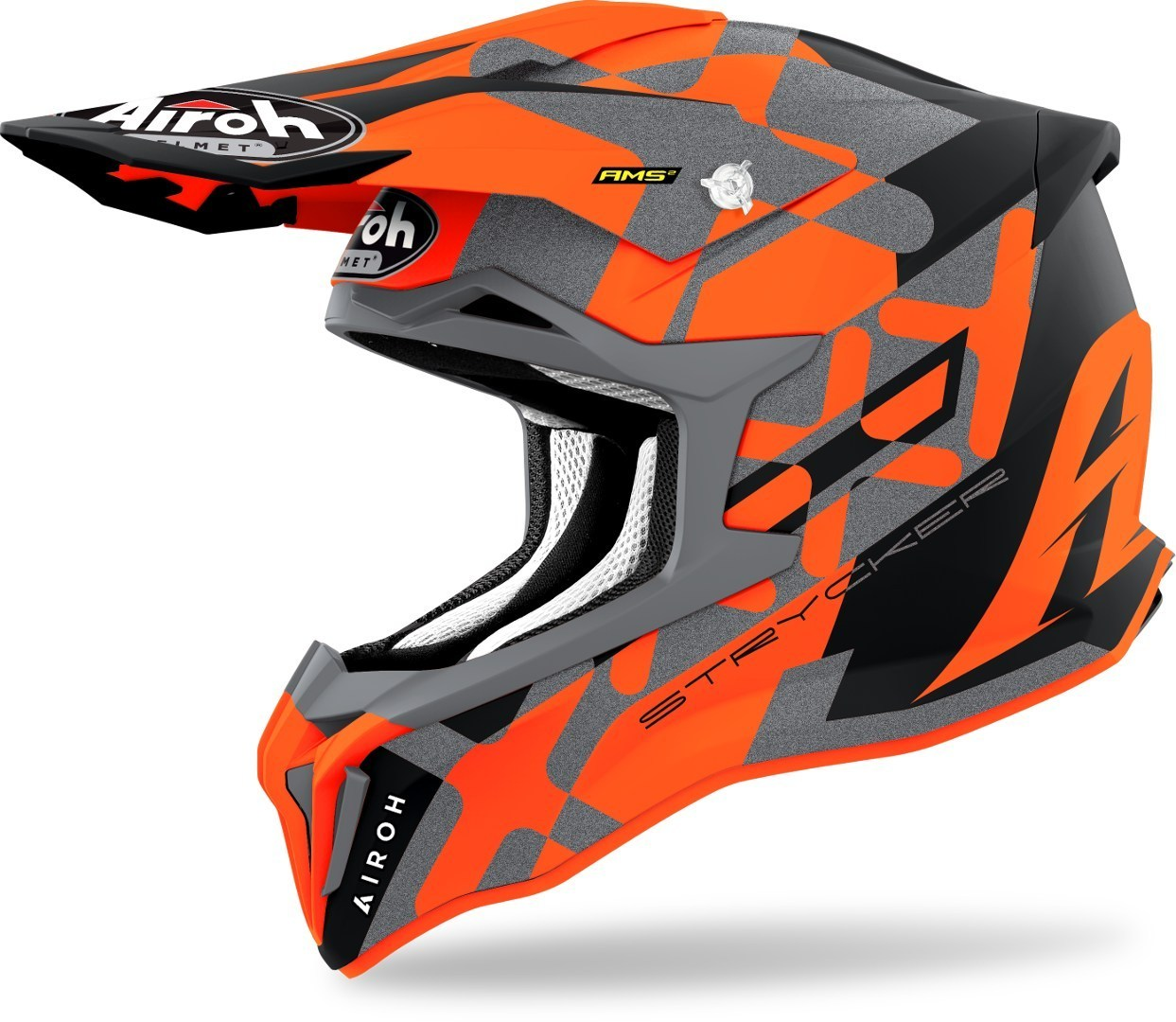 Airoh Strycker XXX Carbon Motocross Helm, orange, Größe XL, orange, Größe XL