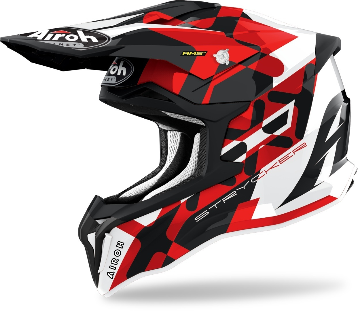 Airoh Strycker XXX Carbon Motorcross Helm, rood, afmeting S