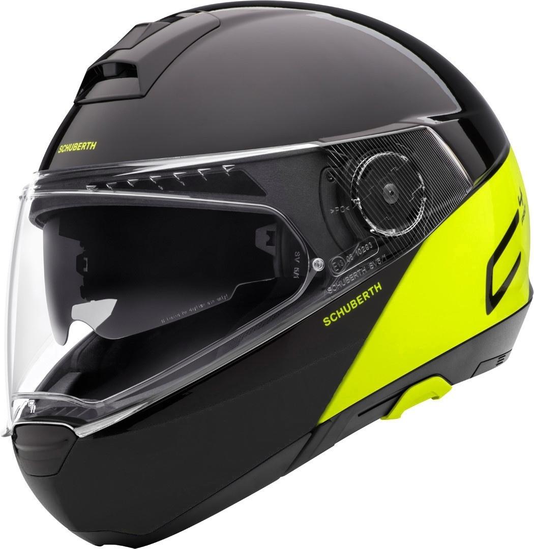 Schuberth C4 Pro Swipe Limited Edition Helm, geel, afmeting 3XL