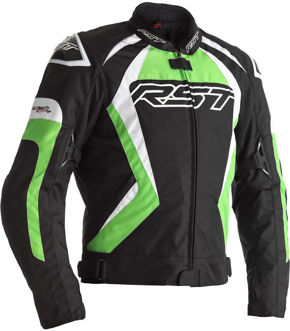 RST Tractech EVO 4 Motorcycle Textile Jacket, black-green, Size M, black-green, Size M