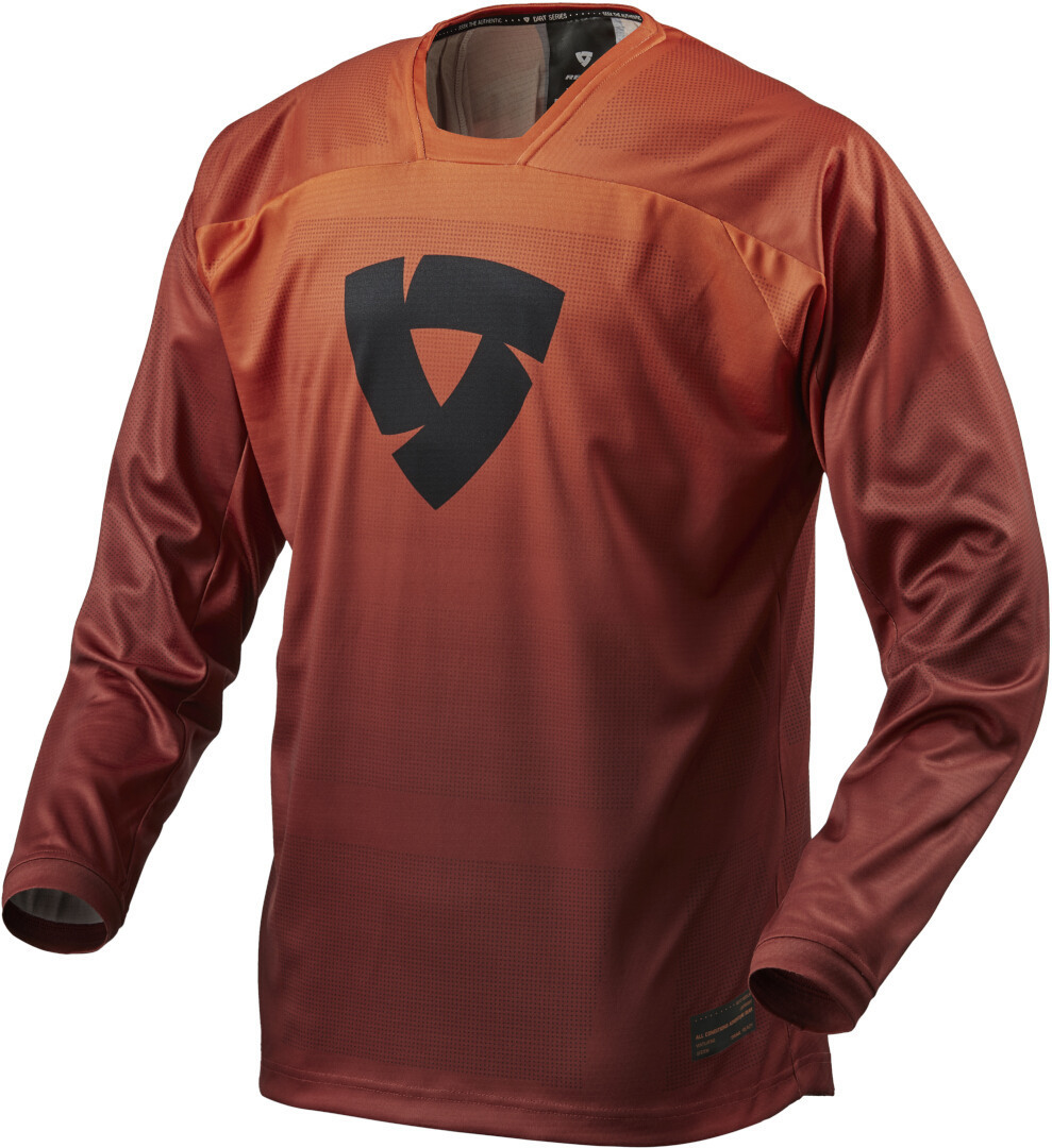 Revit Scramble Motocross Jersey, rot-orange, Größe L, rot-orange, Größe L