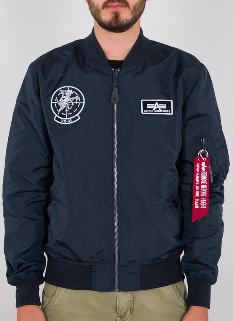 Alpha Industries MA-1 TT Glow In The Dark Jacke, blau, Größe L, blau, Größe L