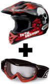 Preview image for SHOEI V-Moto Metal Mulisha TC-1